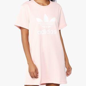 b68e9469fee2 adidas Dresses - adidas Originals Trefoil Tee Dress (Icy Pink)